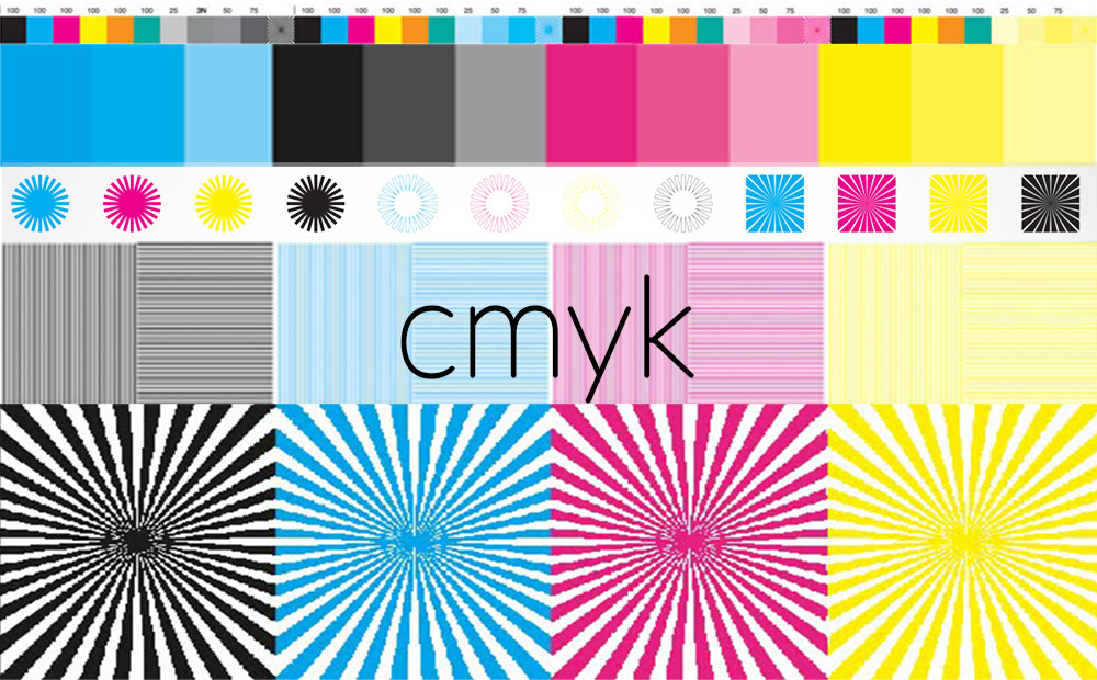 We like to work in print production that uses the CMYK colour model