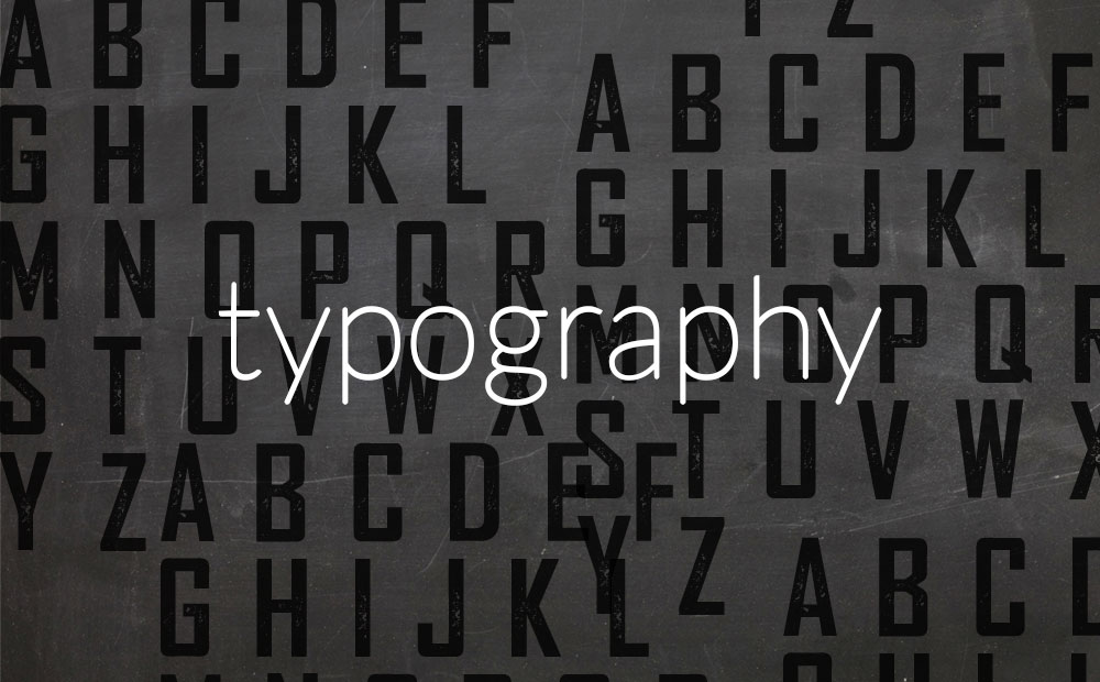 We like [actually, love] TYPOGRAPHY